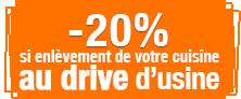 Drive : -20% sur votre cuisine si enlèvement au drive de Coubon (43)